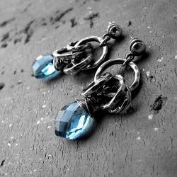 oksydowane,nowoczesne,modne,boho,romantyczne - Kolczyki - Biżuteria