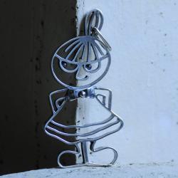 wisior,srebro,grafika,Mała Mi,na szyję - Wisiory - Biżuteria