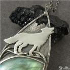Naszyjniki naszyjnik,wilk,labradoryt,srebro,zielony,exclusive