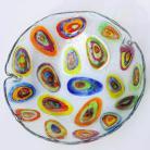 Ceramika i szkło misa,patera,fusing,szkło,na owoce,kolorowa
