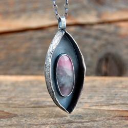 srebrny wisior z szafirem - Wisiory - Biżuteria