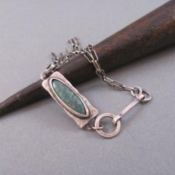 srebro,turkus,bransoletka - Bransoletki - Biżuteria
