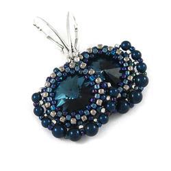 eleganckie,efektowne,wieczorowe,wachlarz - Kolczyki - Biżuteria