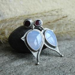 błekit,kobiecość - Kolczyki - Biżuteria