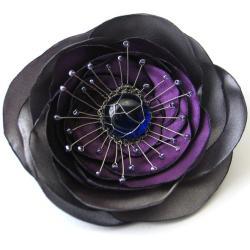 broszka,romantyczna,kwiat,elegancka,fioletowa - Broszki - Biżuteria