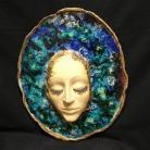 Ceramika i szkło twarz,maska,klimat,oryginalna,wystrój,wnętrze