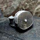 Naszyjniki Pierścionek srebrny,surowy bursztyn
