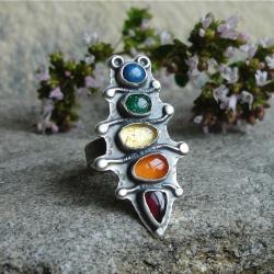 kolorowy,tęcza barw,Rivendell - Pierścionki - Biżuteria