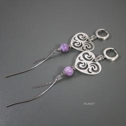 romantyczne kolczyki,srebrne - Kolczyki - Biżuteria