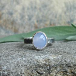 błekit,pastelowy błękit,delikatność - Pierścionki - Biżuteria