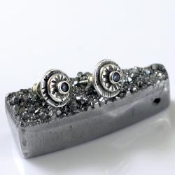 szafirki,sztyfty,do pracy,drobne kolczyki - Kolczyki - Biżuteria