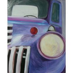 auto,facet,mężczyzny,ścianę,samochód - Obrazy - Wyposażenie wnętrz