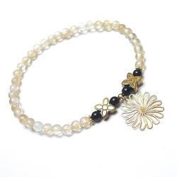 romantyczna,kamienie,minerały,kwiat - Bransoletki - Biżuteria