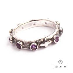 575089ac4ff052 unikatowy różaniec,z amtystem,na palec - Pierścionki - Biżuteria w ...