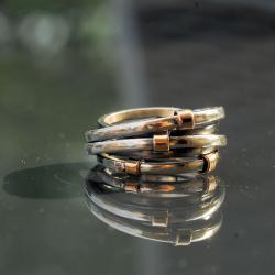 oryginalny,efektowny,ze złotem - Pierścionki - Biżuteria