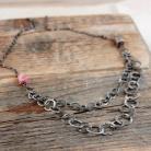 Naszyjniki srebrny naszyjnik łańcuch