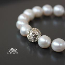 perły,romantyczna,elegancka,ślubna - Bransoletki - Biżuteria