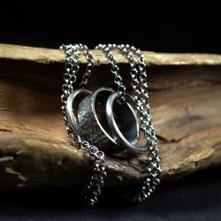 długi srebrny naszyjnik,srebrne koła na łańcuszku - Naszyjniki - Biżuteria