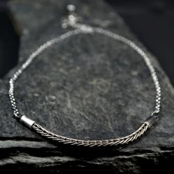 srebrny łańcuszek - Naszyjniki - Biżuteria