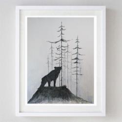 abstrakcja,wilk,akwarela - Obrazy - Wyposażenie wnętrz