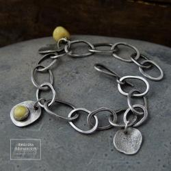 srebro,bursztyn - Bransoletki - Biżuteria