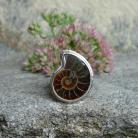 Pierścionki amonit,skamieniałość,pierścień