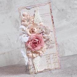 ślub,kwiaty,skrzydła,kartka ślubna - Kartki okolicznościowe - Akcesoria