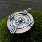 Wisiory kompas,róża wiatrów,talizman,amulet,miedziany