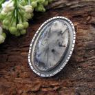 Wisiory Kwarc turmalinowy,srebrny wisior