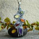 Yavanna - srebrny wisior z kolorowymi kamieniami