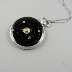 układ słoneczny,wisior,galaktyka,kosmos, - Naszyjniki - Biżuteria