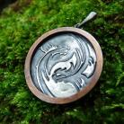 Wisiory srebrny,miedziany,yin yang,męska biżuteria