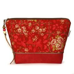 róże,kosmetyczka,prezent,saszetka,autorska,etui - Kosmetyczki - Dodatki
