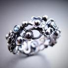 Pierścionki ażurowa obrączka,fantazyjna obrączka,kwiaty,