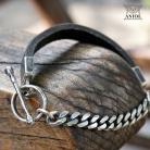Dla mężczyzn surowa bransoleta,biżuteria męska,skórzana