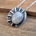 Naszyjniki naszyjnik,srebro,kamień księżycowy