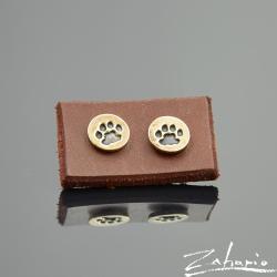 zahario kolczyki kot lapa braz bizuteria - Kolczyki - Biżuteria