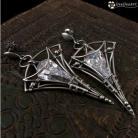 Kolczyki bellatrix,cyrkonia,srebro,eleganckie,duże,kolczyki