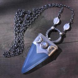 amulet,talizman,księżyc,lunarny,luna - Naszyjniki - Biżuteria