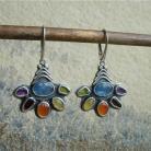 Kolczyki kolorowe,wiosna,kolczyki z kamieniami,tęcza