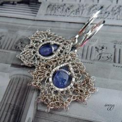 delikatne,romantyczne kolczyki z tanzanitem - Kolczyki - Biżuteria