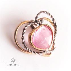 wisiorek serce,wisiorek z turmalinem,złoty - Wisiory - Biżuteria