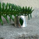 Pierścionki obrączka z diopsydem,chromowa zieleń