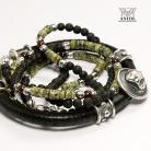 Dla mężczyzn biżuteria męska,komplet,bransoleta skórzana