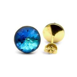 Złocone kolczyki z jeżowcami - Kolczyki - Biżuteria