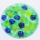 Ceramika i szkło patera,szkło,fusing,dekoracja,na stół,talerz,