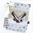 Notesy notes,pamiętnik,kłódka,kluczyk,zamykany,szpilki