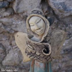 anioł,figurka,dekoracja,wystrój,wnętrze,rękodzieło - Ceramika i szkło - Wyposażenie wnętrz