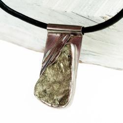 naszyjnik,piryt,surowy,oksydowany,prezent - Naszyjniki - Biżuteria