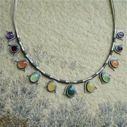 kolorowy,tęcza barw,Rivendell - Naszyjniki - Biżuteria